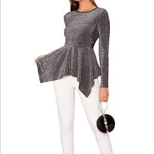 Ruffle Round Neck, Long Sleeve, Pullover, Elegant